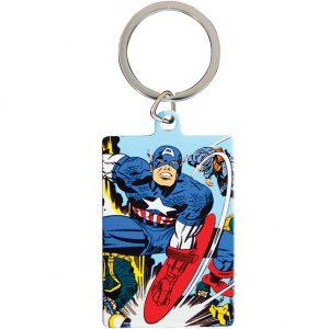 Marvel Comics Metal Keyring Captain America
