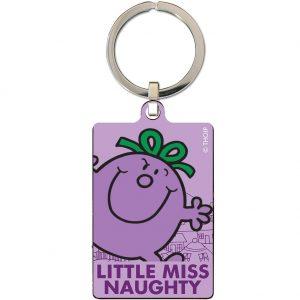 Little Miss Naughty Metal Keyring
