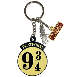 Harry Potter 3 Charm Keyring 9 & 3 Quarters