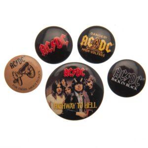 AC/DC Button Badge Set