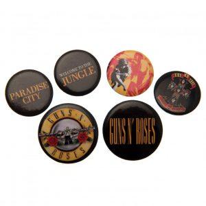 Guns N Roses Button Badge Set