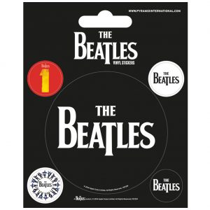 The Beatles Stickers Black