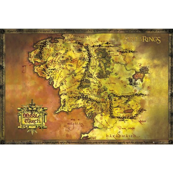 The Lord Of The Rings Poster Map 274