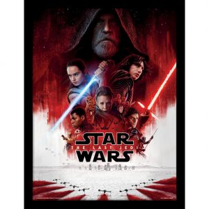 Star Wars The Last Jedi Framed Picture 16 x 12