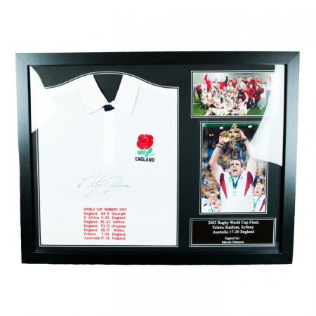 England RFU Johnson Signed Shirt (Framed)