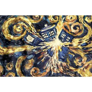 Doctor Who Poster Exploding Tardis 98