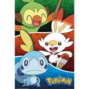 Pokemon Poster Galar Starters 253