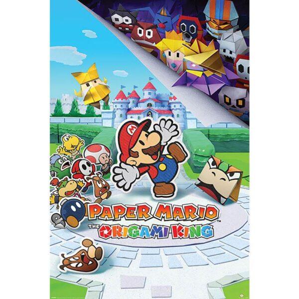 Super Mario Poster Origami King 93