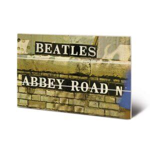 The Beatles Wood Print Abbey Road