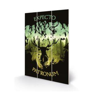 Harry Potter Wood Print Expecto Patronum