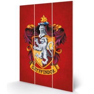 Harry Potter Wood Print Gryffindor