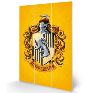 Harry Potter Wood Print Hufflepuff