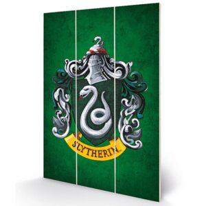 Harry Potter Wood Print Slytherin