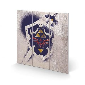 The Legend Of Zelda Wood Print Shield