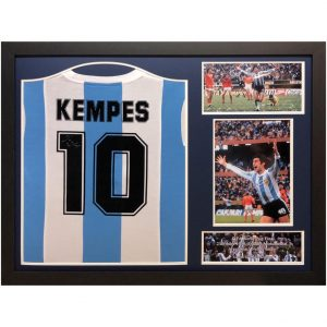 Argentina Kempes Signed Shirt (Framed)
