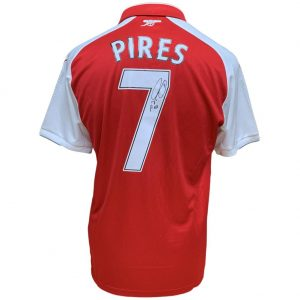 Arsenal FC Pires Signed Shirt