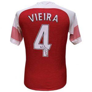 Arsenal FC Vieira Signed Shirt