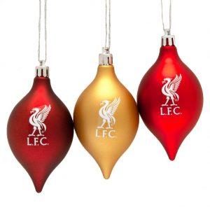 Liverpool FC 3pk Vintage Baubles