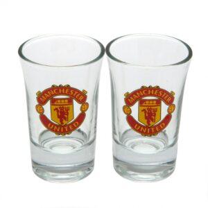 Manchester United FC 2pk Shot Glass Set