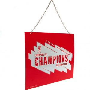 Liverpool FC Champions Of Europe Metal Sign