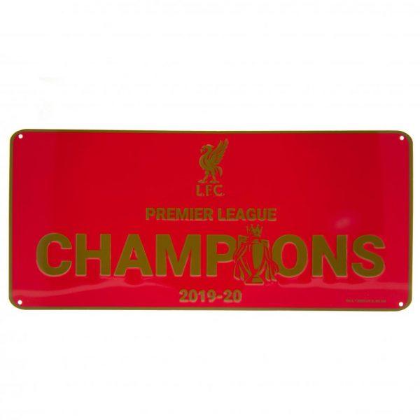 Liverpool FC Premier League Champions Sign RD