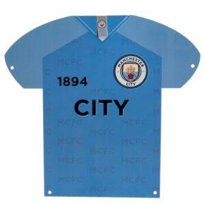 Manchester City FC Metal Shirt Sign