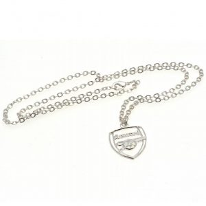 Arsenal FC Silver Plated Pendant & Chain CR