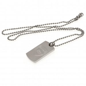 Arsenal FC Engraved Dog Tag & Chain