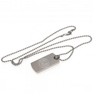 Leicester City FC Engraved Dog Tag & Chain