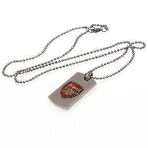 Arsenal FC Colour Crest Dog Tag & Chain