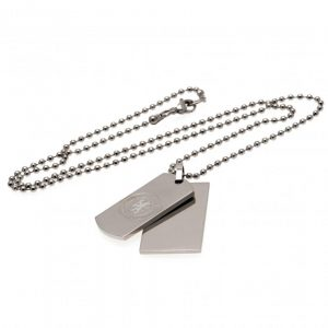 Chelsea FC Double Dog Tag & Chain