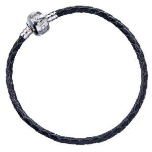 Harry Potter Leather Charm Bracelet Black L