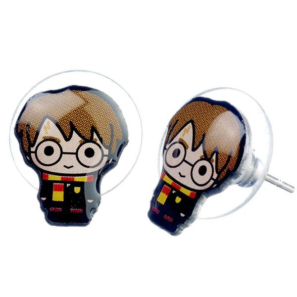 Harry Potter Silver Plated Earrings Chibi Harry