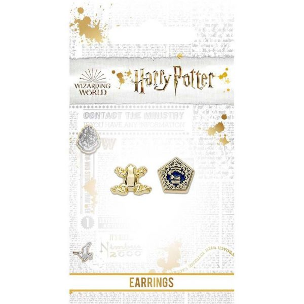 Harry Potter Gold Plated Earrings Chocolate Frog