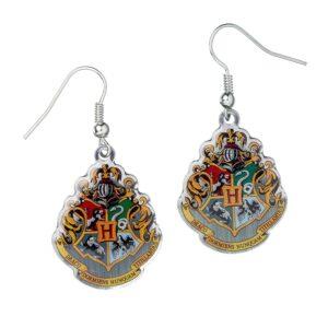 Harry Potter Silver Plated Earrings Hogwarts