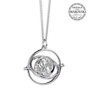 Harry Potter Sterling Silver Swarovski Necklace Time Turner