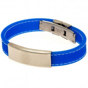 Leicester City FC Stitched Silicone Bracelet BL