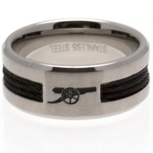 Arsenal FC Black Inlay Ring Large