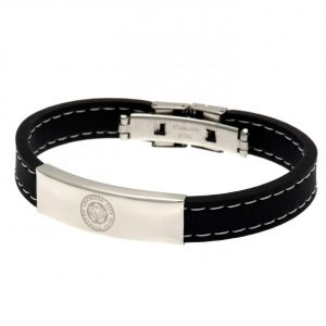 Leicester City FC Stitched Silicone Bracelet BK