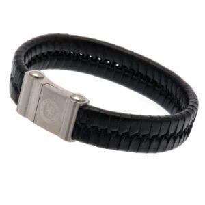 Chelsea FC Single Plait Leather Bracelet