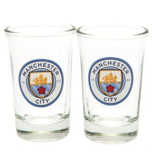 Manchester City FC 2pk Shot Glass Set