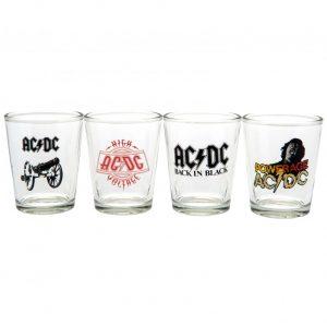 AC/DC 4pk Shot Glass Set