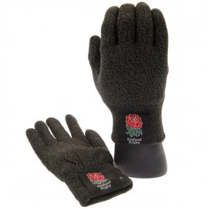 England RFU Luxury Touchscreen Gloves Youths