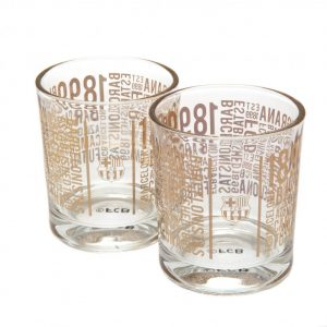 FC Barcelona 2pk Whiskey Glass Set