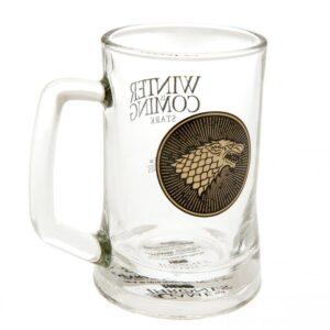 Game Of Thrones Glass Tankard Stark