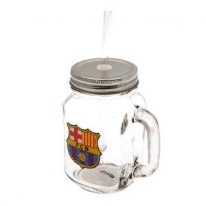 FC Barcelona Mason Jar