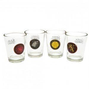 Game Of Thrones 4pk Shot Glass Set