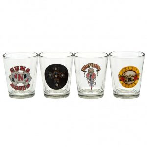 Guns N Roses 4pk Shot Glass Set