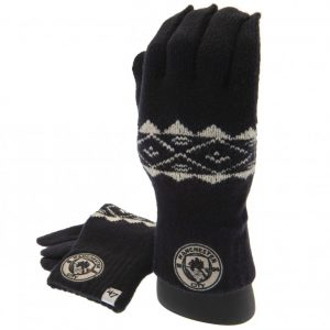 Manchester City FC Knitted Gloves Adult