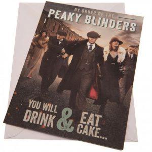 Peaky Blinders Birthday Card Eat Cake